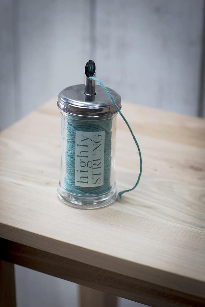 highly_strung_jar_turquoise_string__sjtq01 Garden Accessories