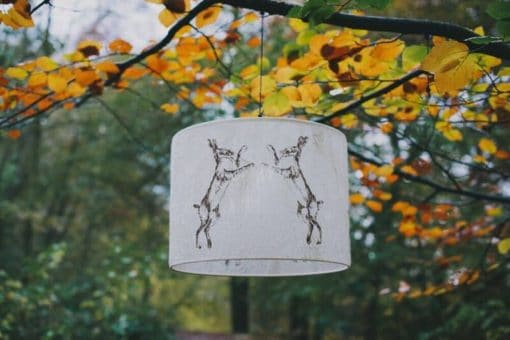 Boxing Hare Lampshade