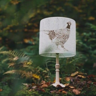 Pheasant-Lampshade-400x400 Lighting