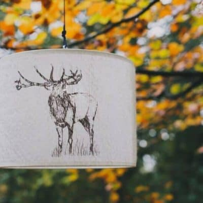 Stag-Felt-Lampshade-400x400 Lighting