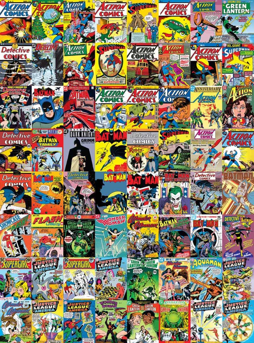 Dc Comics Creative Collage Wallpaper 64 Pieces Tinker
