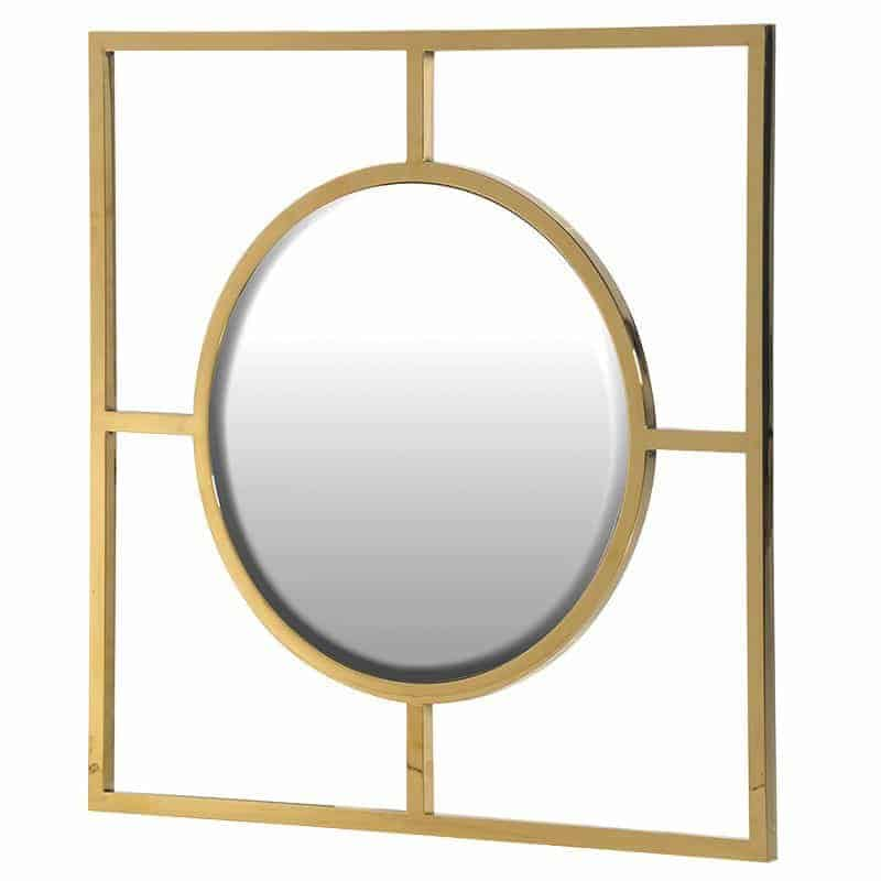 Gold Square Frame With Round Mirror Tinker And Toad