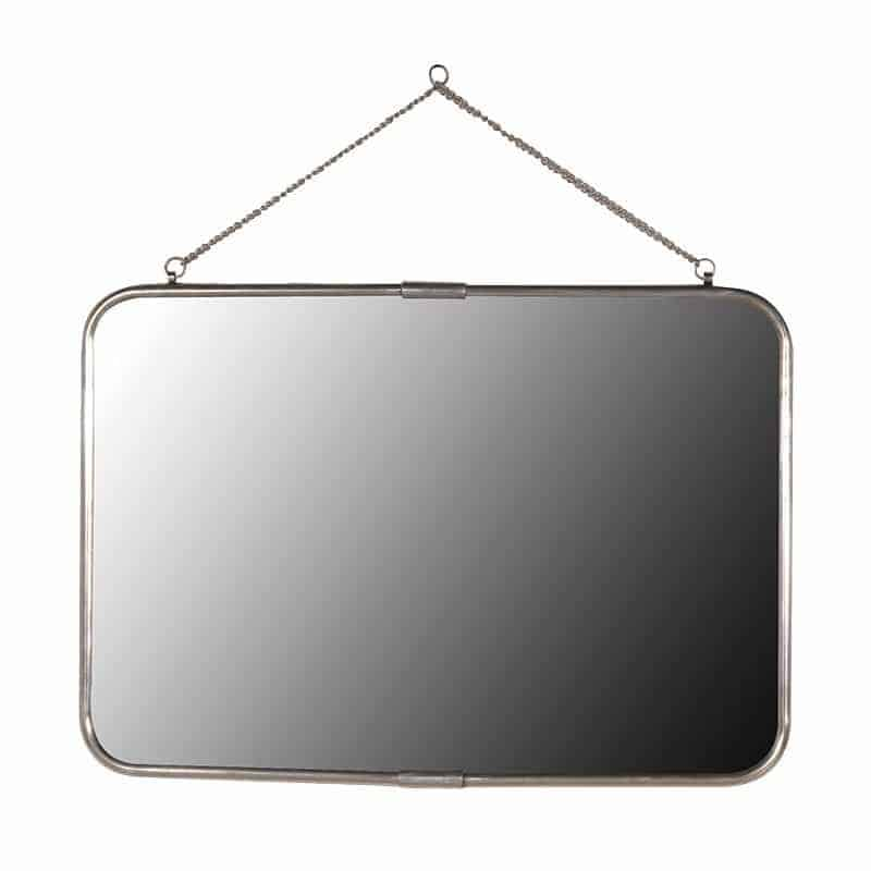 39 antiqued silver 39 rectangular wall mirror tinker and toad for Mirror 40cm wide