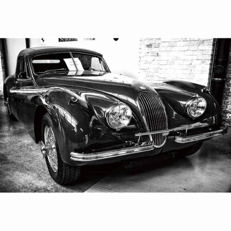 classic-jaguar-xk140-car-tempered-glass-wall-art-80cm-x-120cm Glass Art