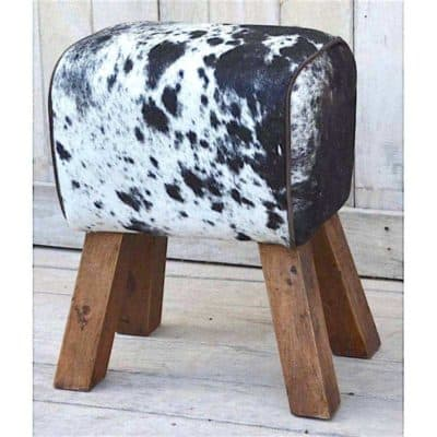 cowhide-hair-on-pommel-horse-style-leather-footstool-sidestool-400x400 Seating