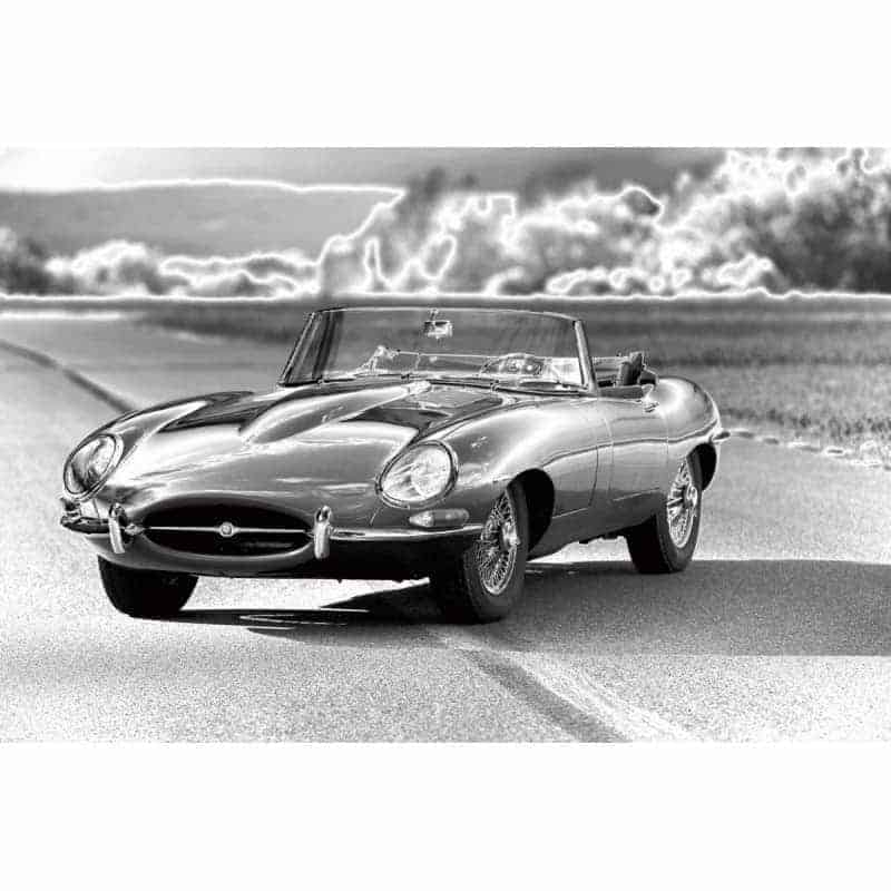 jaguar-e-type-car-tempered-glass-wall-art-80cm-x-120cm Glass Art