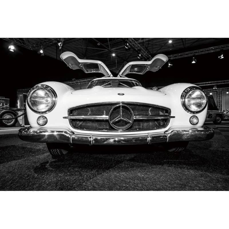 mercedes-gullwing-restoration-project-car-tempered-glass-wall-art-picture Glass Art