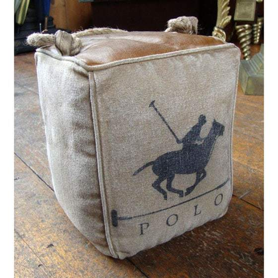 polo-horse-design-leather-canvas-doorstop Dining Room