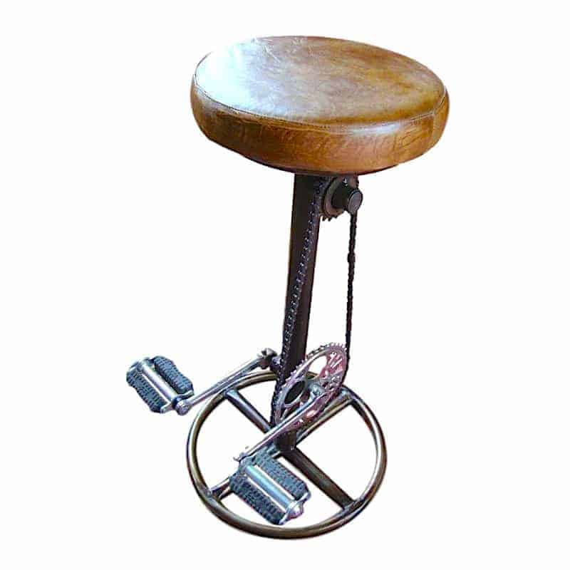Retro Reclaimed Bicycle Bar Stool Tinker And Toad