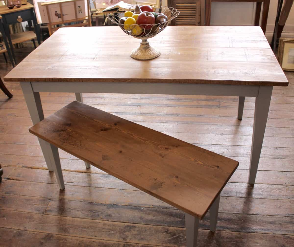 Bespoke handmade kitchen dining table tinker and toad for Handmade kitchen table