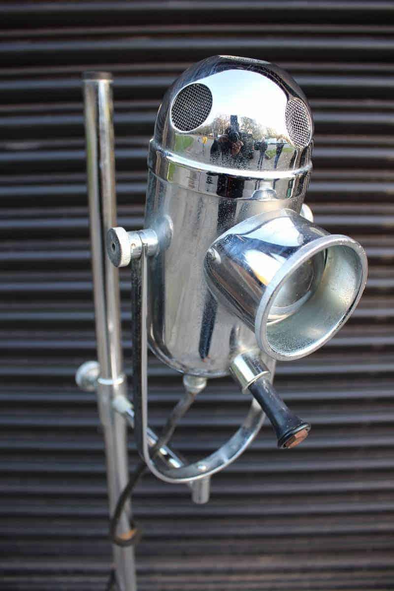 A Vintage Ent Medical Floor Standing Bullseye Lamp Mid
