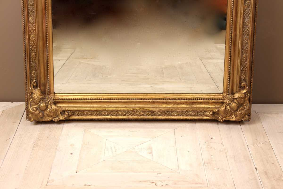 A Large Victorian Giltwood Amp Gesso Mirror Circa 1870