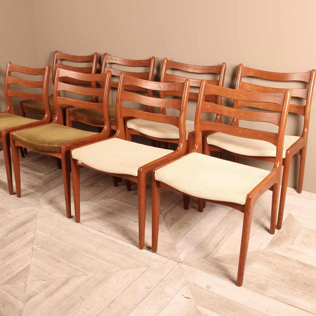 A Set Of Eight Midcentury Danish Teak Dining Chairs By Dyrlund Tinker And Toad